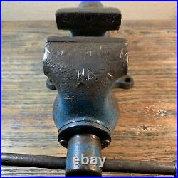 Vintage Wilton Early Bullet Vise 3 Jaw 1946 with Swivel Base No Reserve
