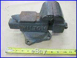 Vintage Wilton Made in USA 3.5 Machinist Vise Swivel Base Anvil Top No. 643