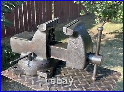 Vintage Wilton Mechanics Vise 4''jaws, With Swivel Base & Pipe Grip 35 Lbs Vice