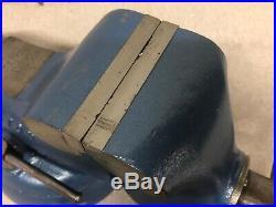 Vintage Wilton No. 835 Bullet Vise 3 1/2 Jaws Swivel Base Restored