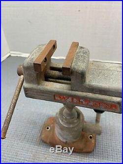 Vintage Wilton Pow-R-Arm Model 344 Vise with 2-1/4 Jaws and Swivel Locking Base