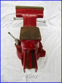 Vintage Wilton Swivel Base Bench Vise Model 654 4 jaws Anvil/Horn Made in USA