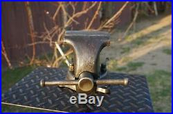 Vintage Wilton Torco 4jaw Bench Vise With Swivel Base & Pipe Grips Chicago USA