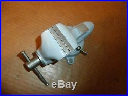 Vintage Wilton USA Baby Salesman's Size Bullet Vise With 2 Inch Jaws Swivel Base
