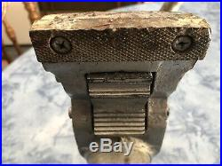 Vintage Wilton USA Bullet 3 1/2 Vise withSwivel Base, Pipe Jaws, Anvil, Working