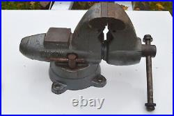 Vintage Wilton USA Bullet 3 1/2 Vise with Swivel Base, Pipe Jaws, Anvil, Working