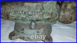 Vintage Wilton Vise Pat Pending No 3 1941-42 war Chicago Swivel Base vice Bullet