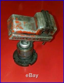Vintage Wilton vise with Wilton 344 pow-r-arm swivel locking base