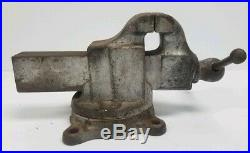 Vintage Yost Bench Vise, Model 203 1/2, with Swivel Base, 3.5 Jaws FREE SHIPPING
