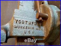 Vintage Yost Vise Muskegon Made in USA Swivel Base