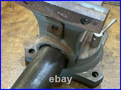 Vintage large WILTON Shop Vise 6 1/2 with Swivel Base w pipe jaws