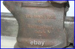 Vintage ridge tool co. 500-R utility vise steel slide rear anvil swivel base 5
