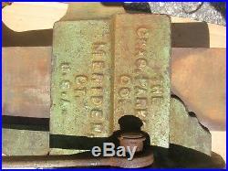 Vtg Huge 76 LB 4 1/2 Inch CHAS PARKER Meriden CT 974 1/2 Swivel Base Vise NICE