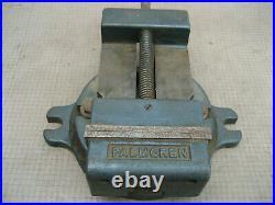 Vtg Palmgren 4 1/2 Milling Machine Drill Press Vise With Swivel Base No Handle