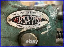 Vtg The Will Burt Co Versa Vise 4-1002-2 Swivel Base 2.5x3.7 Jaws Opens 5.25
