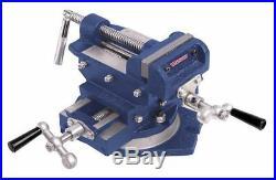 WESTWARD 10D735 4 Cross Slide Drill Press Vise with Swivel Base