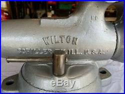 WILTON #101028 HD Swivel Base BULLET MACHINIST VISE 4 In. Jaws VERY NICE