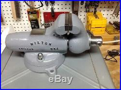 WILTON 9300 BULLET VISE, 3''JAW, TODDLER SWIVEL BASE, CHICAGO USA, 26lb 1946