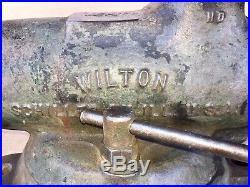 WILTON 9400 HD BULLET VISE 4'' Jaws Swivel Base Machinist Tool Very Good User