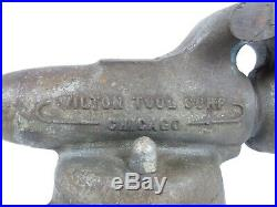 WILTON Baby Bullet Vise No. 3 CHICAGO with Swivel Base Early Wilton Vise 3 Jaws