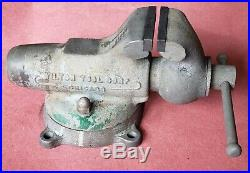 WILTON Bullet Vise No. 3 CHICAGO With Swivel Base, Early (1941-1942), VG Condition