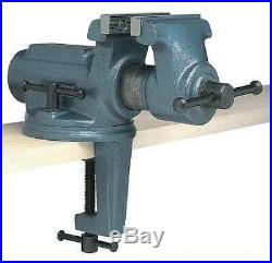 WILTON CBV-100 4 Light Duty Portable Bench Vise with Clamp On, Swivel Base