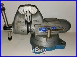 Wilton 1755 Tradesman 5 1/2 Jaws Vise With Pipe Jaws Swivel Base