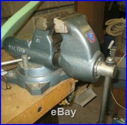 Wilton 28826 Bullet Vise C1 Combo Pipe Bench Swivel Base 4 1/2 clamp EUC