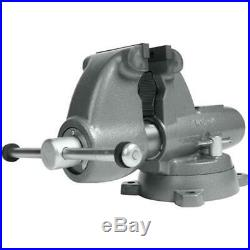 Wilton 28828 6 Combo Pipe/Bench Jaw Round Channel Vise with Swivel Base