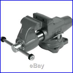 Wilton 28832 500S 5 Machinist Jaw Round Channel Vise with Swivel Base