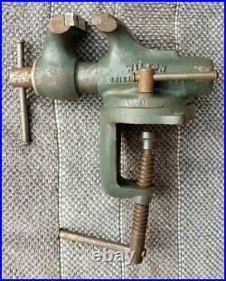 Wilton 2 Baby Bullet 820 Machinist Bench Bullet Vise Vtg Clamp Mount Base NICE
