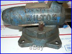 Wilton 350 3-1/2 Swivel Base Machinist Vise Bullet style in good shape