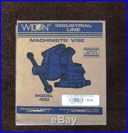 Wilton 400S, 4 Jaw Width by 6.5 Opening Machinist Swivel Base Vise