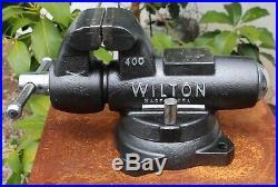 Wilton 400 Machinist Vise 360 Swivel Base 4 Jaws 2 Lockdowns 62 pounds
