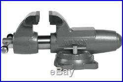 Wilton 500S Machinist 5 Jaw Round Channel Vise with Swivel Base 28832