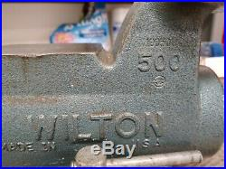 Wilton 5 Jaw 500 Machinists' Bullet Bench Vise Swivel Base Vice USA