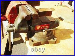 Wilton 5 Vise 1750 withSwivel Base & Pipe Grip Jaws Machinist Bench