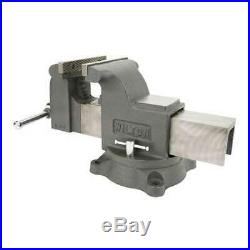Wilton 6 Inch Jaw 3.5 Inch Throat Steel Swivel Base Work Shop Bench Vise (Used)