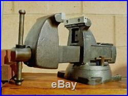 Wilton 744 Mechanics Bench Vise, Swivel Base, 4'' Jaw X 4.5'' Opening, 35 Lbs Vice