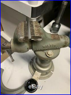 Wilton 820 2 Baby Bullet Machinist's Vise Powrarm Junior Base + 347 Table Clamp