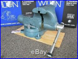 Wilton 8 Tradesman Round Channel Vise with Swivel Base Model 1780A USA-Made