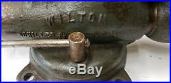Wilton 9300 3 Jaw Swivel Base Bullet Visel with Brass Jaw Covers Weighs 27 lbs