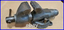 Wilton 9300 Bullet Vise 3Jaw Swivel Base USA Great Vintage Condition