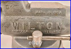 Wilton Bullet Vise 400, 4 Jaws, Good, 2-77 Date USA Made Swivel Base Orig Paint