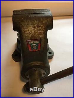 Wilton C1 Combination Pipe and Bench 4.5 Jaw Round Channel, Swivel Base Vise
