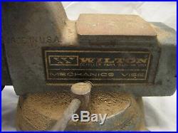 Wilton Mechanics Bench Vise 4 Jaw Full Swivel Base Pipe Clamp Tool