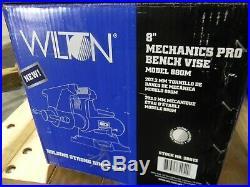 Wilton Mechanics Pro Bench Vise with Swivel Base 8 Jaw Width 8-1/2 Opening 28813