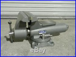 Wilton Mechanics Pro Vise with Swivel Base and Pipe Jaws 10 Jaw Width 12 Opening