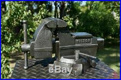 Wilton Mechanics Vise 4'' Jaw, With Swivel Base & Pipe Grip, 34 Lb Vice Made In Us