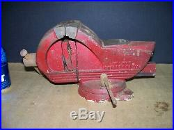 Wilton Shop King Bench Vise, 4 Jaw, Swivel Base, Chicago 14, Made In USA